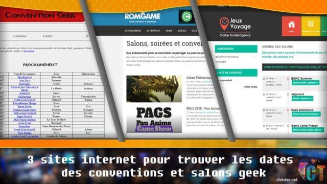 3 sites internet pour trouver les dates des conventions et salons geek