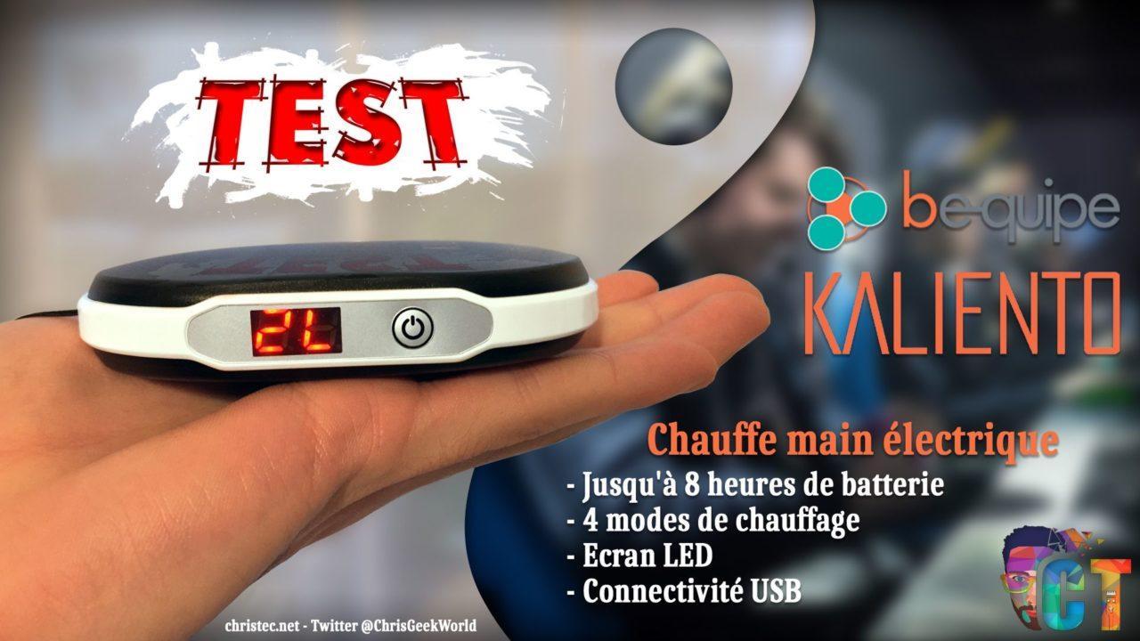 Test du Kaliento, Chauffe-mains électrique de chez Bequipe Gaming
