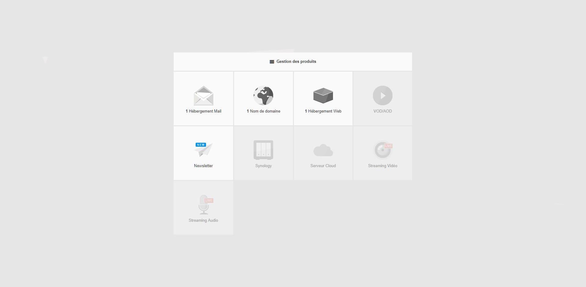 Before-Infomaniak interface page de bienvenue