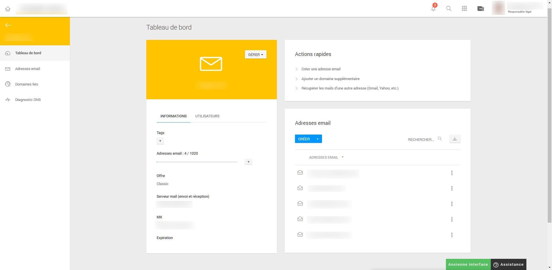 After-Infomaniak interface beta Mail
