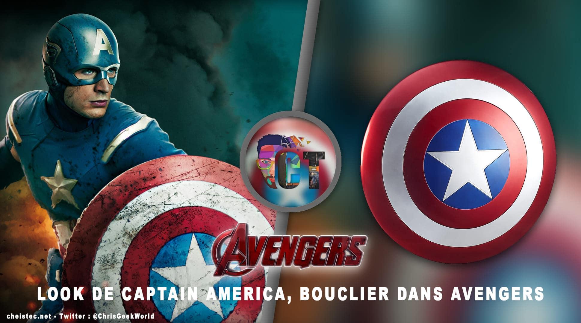 image en-tête Look Avengers bouclier Captain America