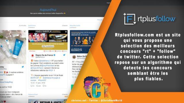 Rtplusfollow le site qui vous aide à trouver des concours sur Twitter