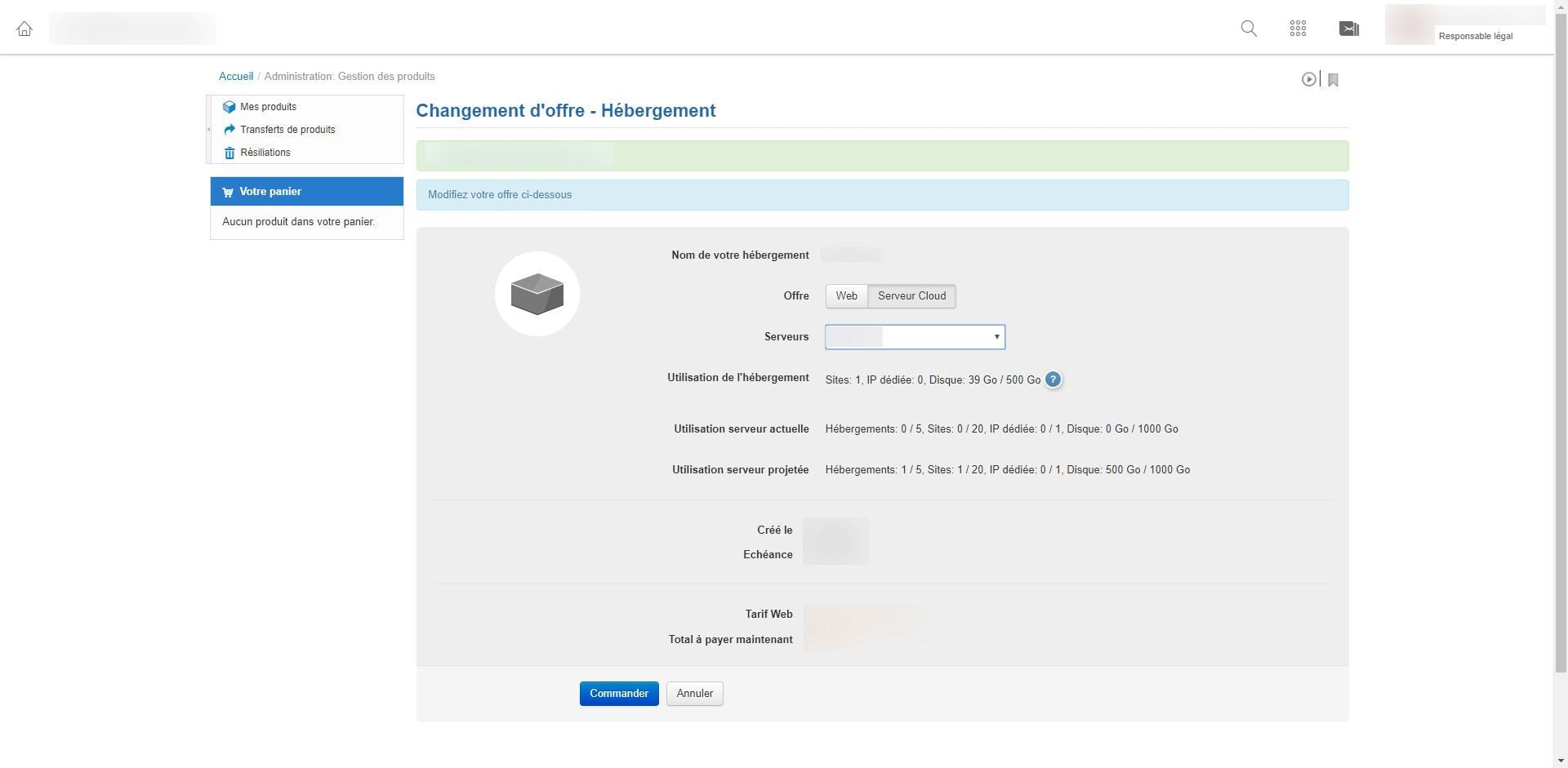 Image tuto pour migrer un hébergement web sur un serveur cloud chez infomaniak 4