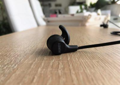Image test des écouteurs bluetooth aukey sport 5