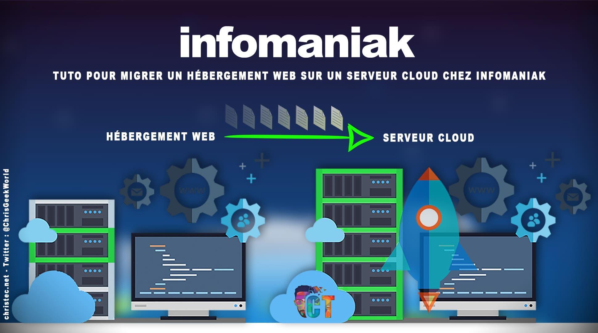 image en-tête tuto pour migrer un hébergement web sur un serveur cloud chez infomaniak
