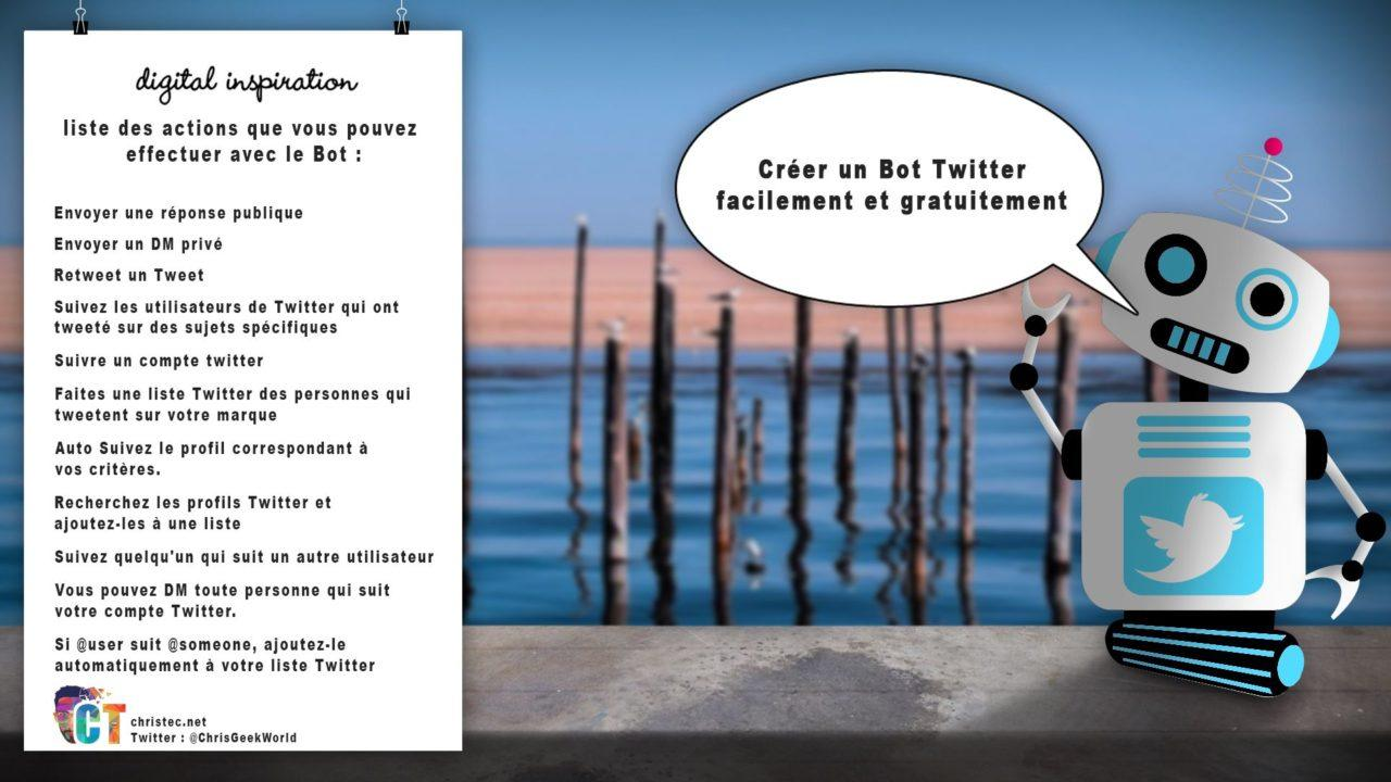 Créer un Bot Twitter facilement et gratuitement (Bot RT, Follow, DM, Liste, Réponse automatique…)