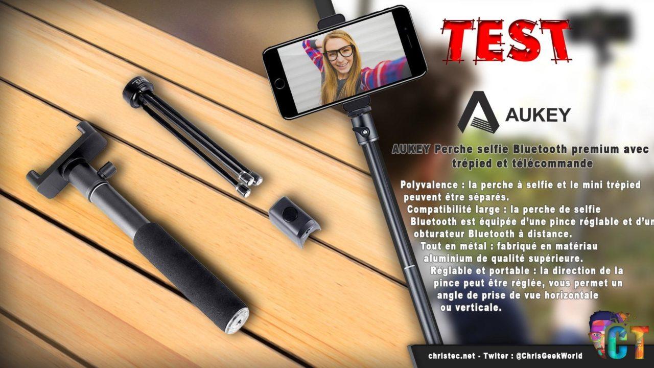 Test de la perche à selfie Bluetooth premium avec trépied et télécommande d'Aukey