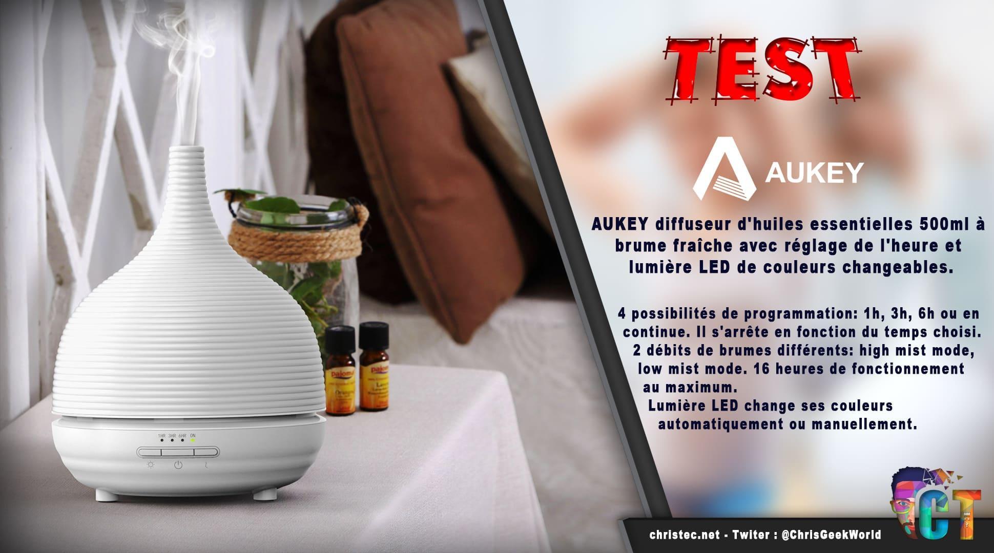 image en-tête Test diffuseur d'huiles essentielles à brume AUKEY