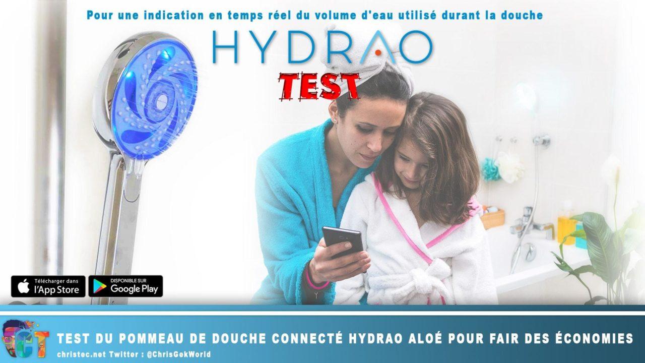 Test du pommeau de douche connecté Hydrao Aloé pour fair des économies