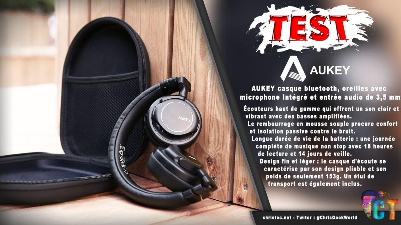 Test du casque Bluetooth et pliable d'AUKEY avec microphone Intégré