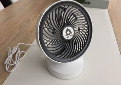 image test du ventilateur de bureau usb klim breeze 3