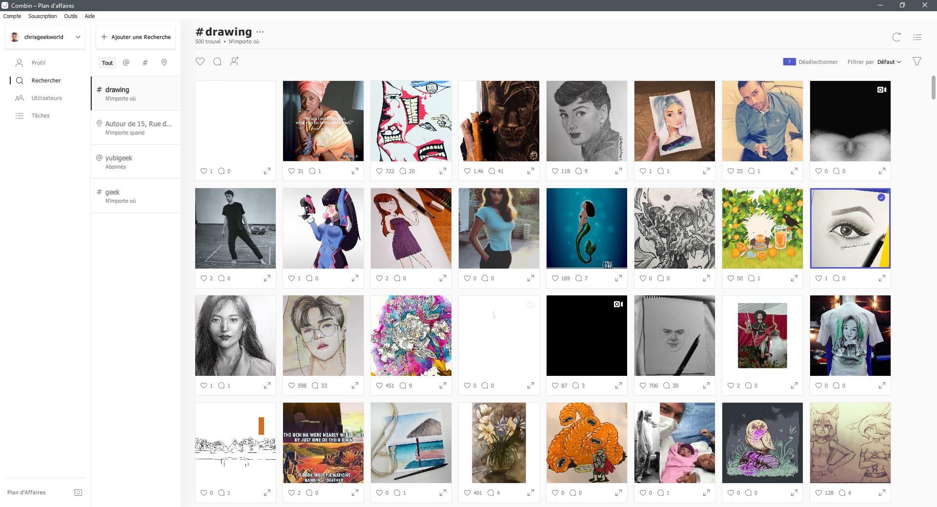 image Test de Combin, gérez et boostez votre Instagram d'une manière efficace et organique 3