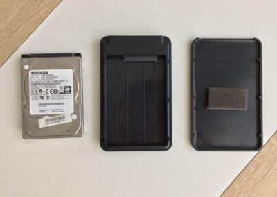 image test du boîtier USB3 Aukey pour disque dur 5