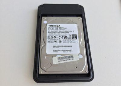 image test du boîtier USB3 Aukey pour disque dur 3