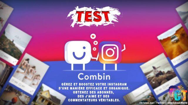 Test de Combin, gérer et booster votre Instagram d'une manière efficace et organique