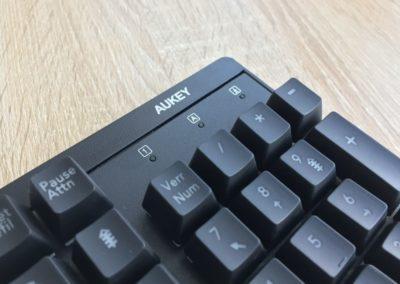 image test du clavier mécaniqueKM-G6 pour gamer Aukey rétroéclairé par LED 5