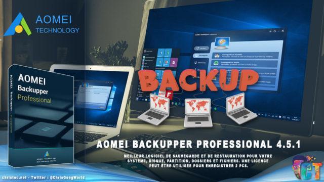 Test de AOMEI Backupper Professional le logiciel parfait pour la sauvegarde et la restauration de données