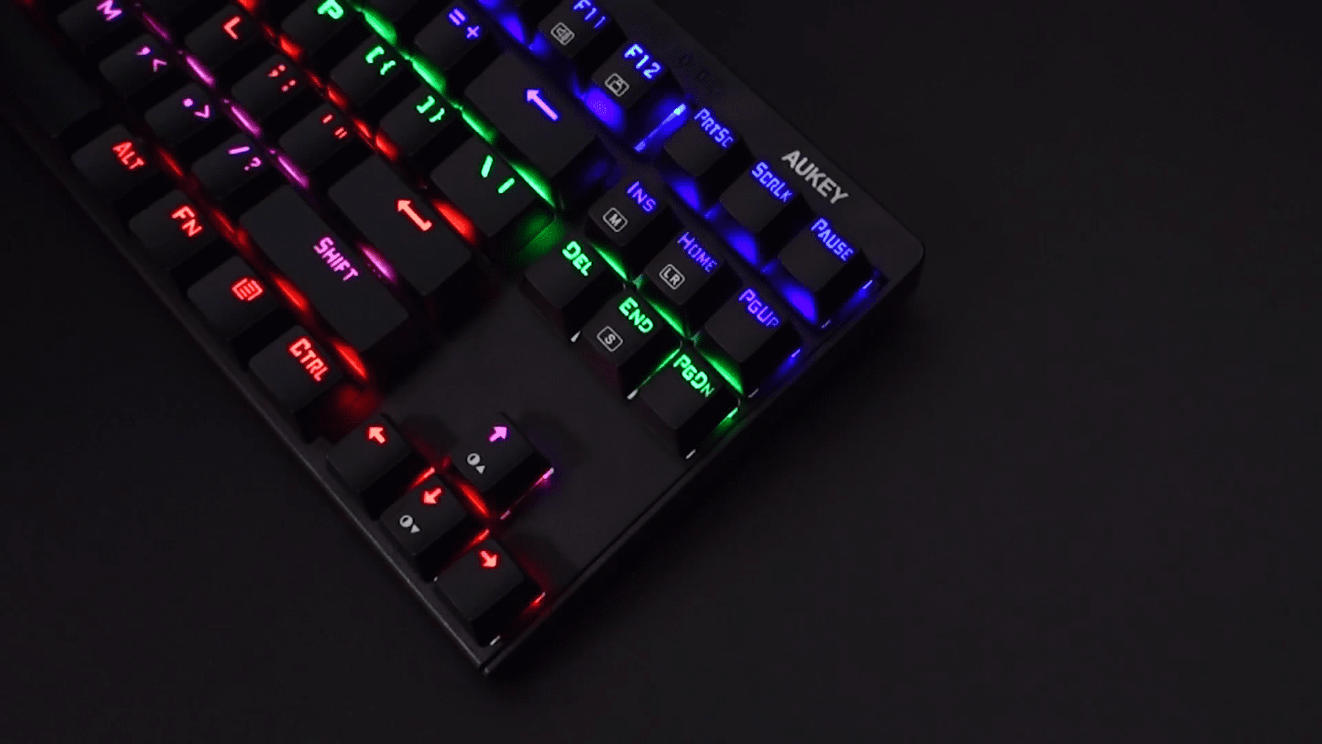 image test du clavier mécaniqueKM-G6 pour gamer Aukey rétroéclairé par LED 13
