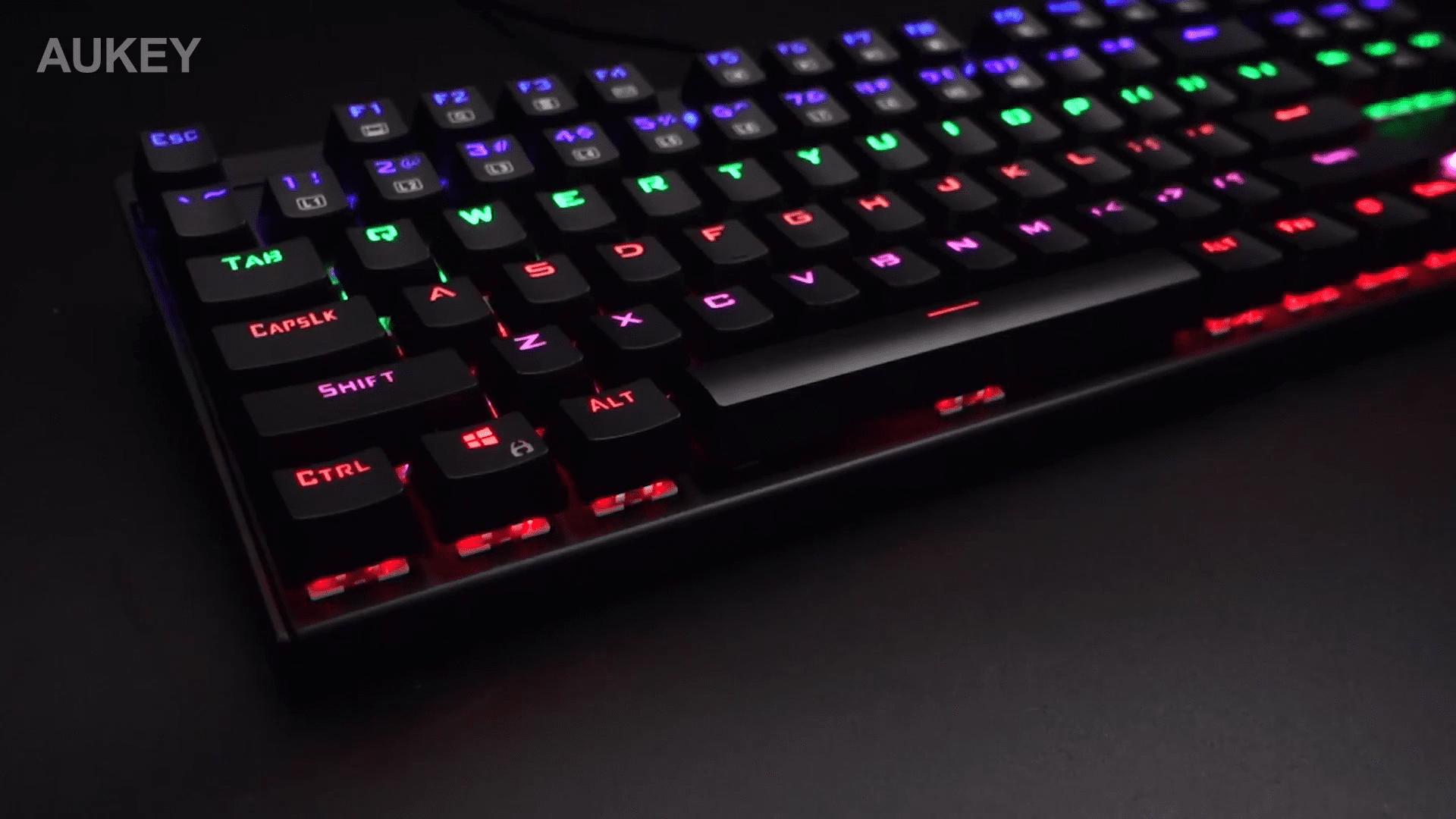 image test du clavier mécaniqueKM-G6 pour gamer Aukey rétroéclairé par LED 14