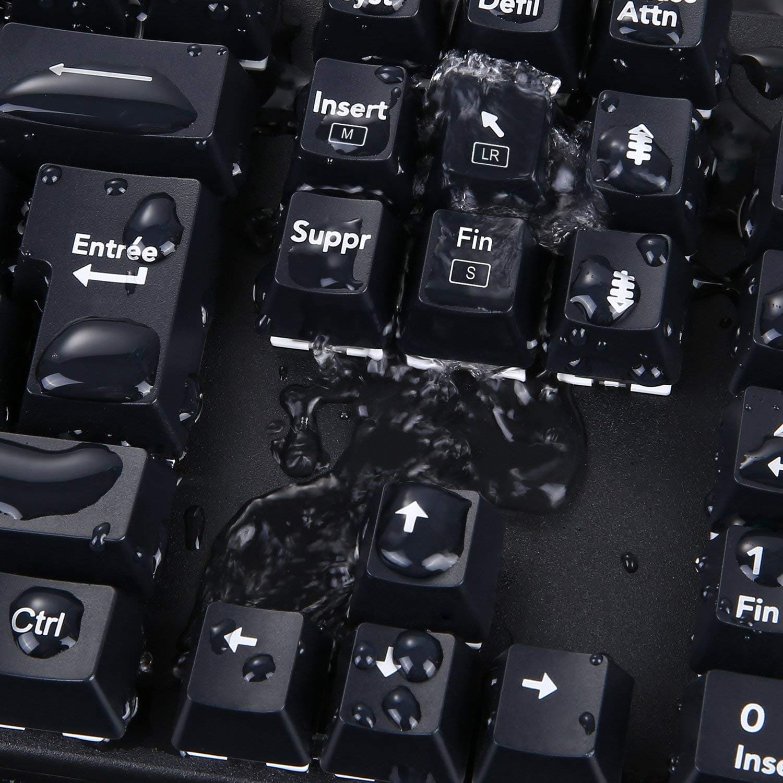 image test du clavier mécaniqueKM-G6 pour gamer Aukey rétroéclairé par LED 15