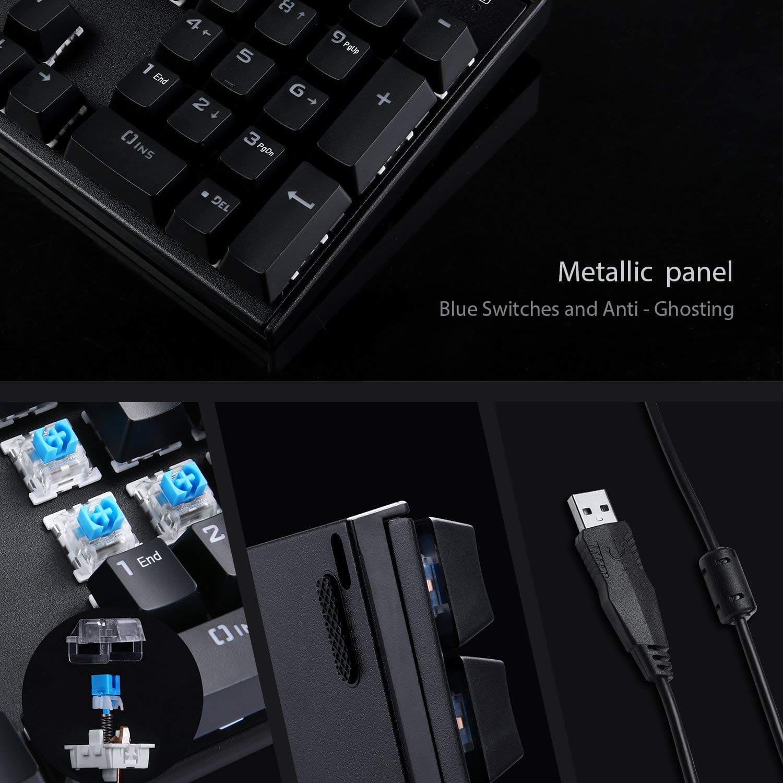 image test du clavier mécaniqueKM-G6 pour gamer Aukey rétroéclairé par LED 9
