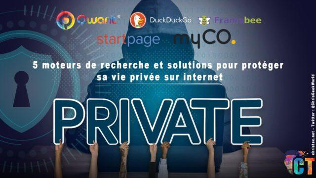 5 moteurs de recherche et solutions pour protéger sa vie privée sur internet