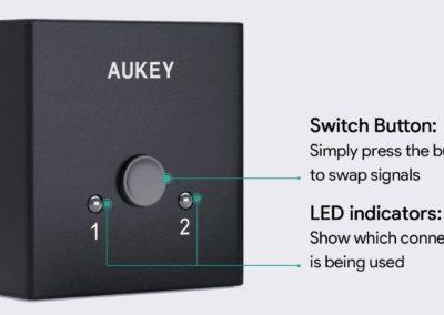 image Test du switch HDMI bidirectionnel AUKEY 10