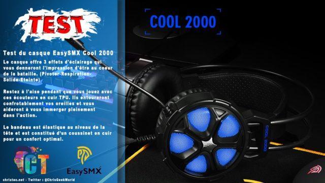 Test du casque pour gamer EasySMX Cool 2000 avec micro anti bruit et 3 effets d'éclairage