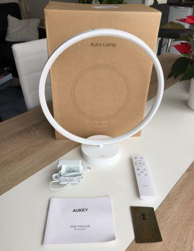 image Test de la lampe à LED multicolore en anneau d'Aukey 3