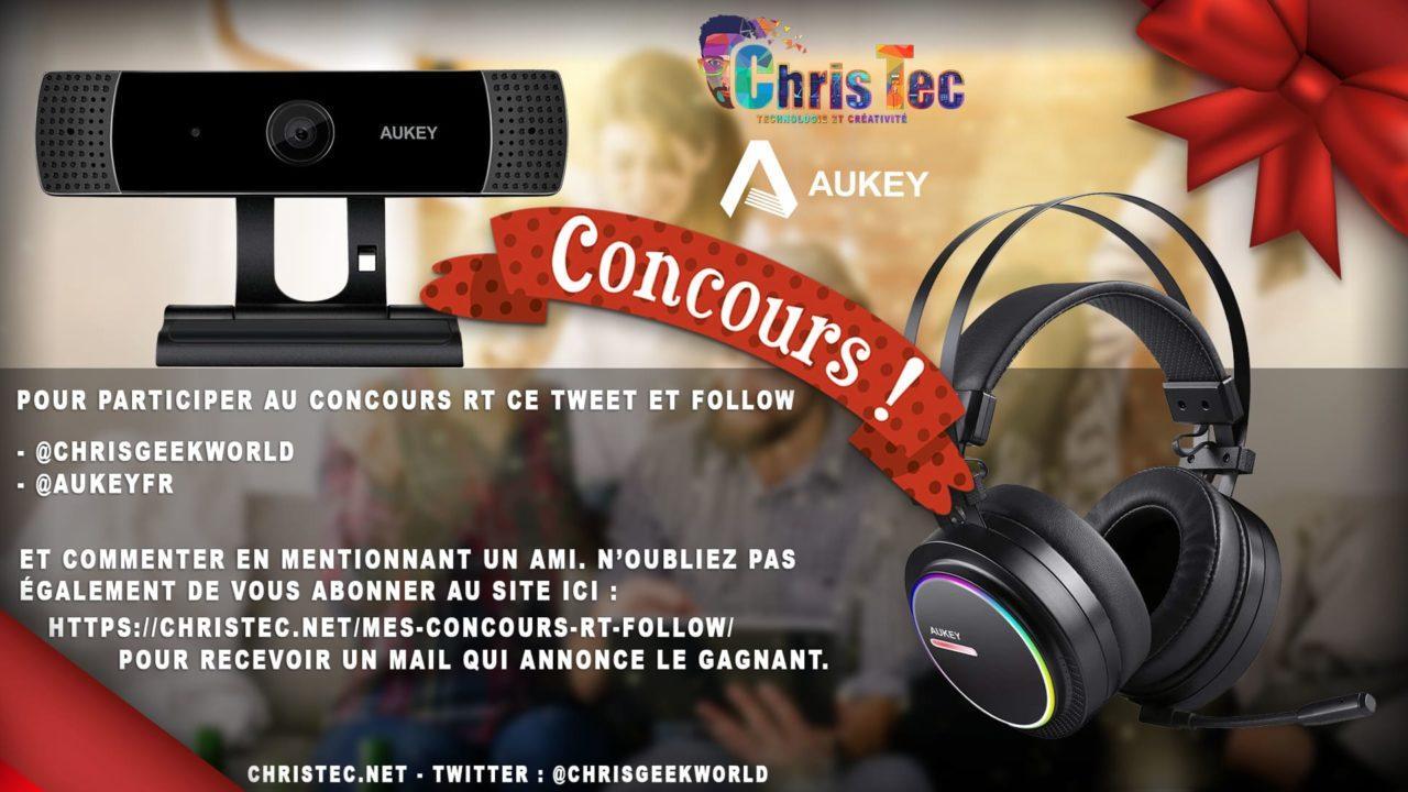 Concours Twitter pour gagner une Webcam 1080P et un Casque Gamer