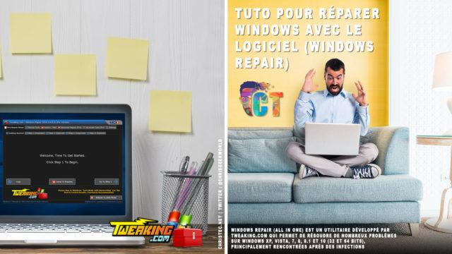 Tutorielle pour réparer Windows avec le logiciel (Windows repair)